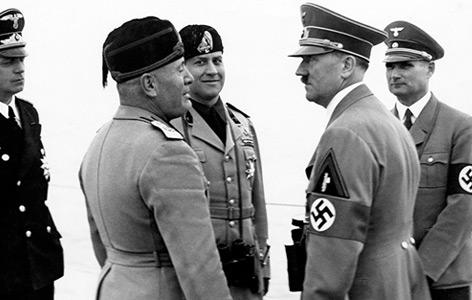 Hitler und Mussolini in Italien 1938
