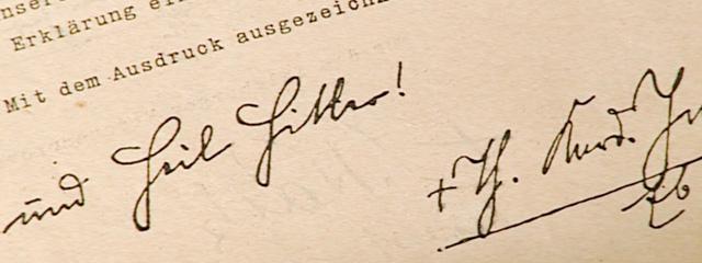 """Unterschrift """"Theodor Kardinal Innitzer""""."""