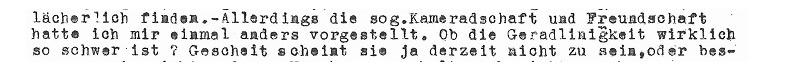 Auszug/Scan: Brief von Kurt Schuschnigg