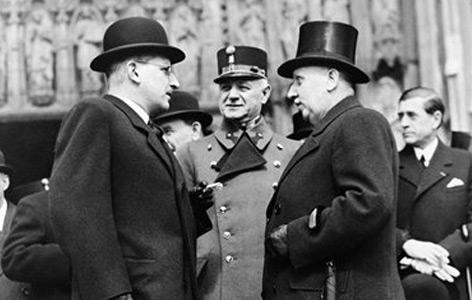 Schuschnigg (li.) und MIklas im April 1937