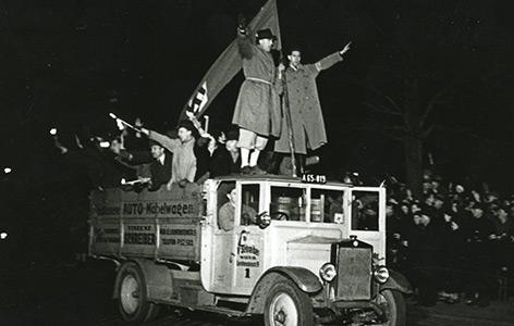 Straßenszene des 11. März 1938