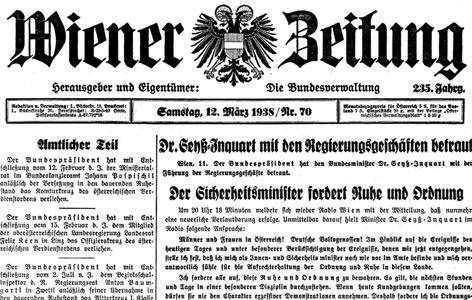"""Cover der """"Wiener Zeitung"""" vom 12. März 1938"""