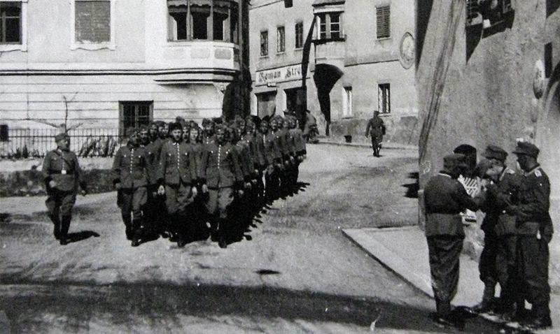 Einmarsch der deutschen Truppen in Imst