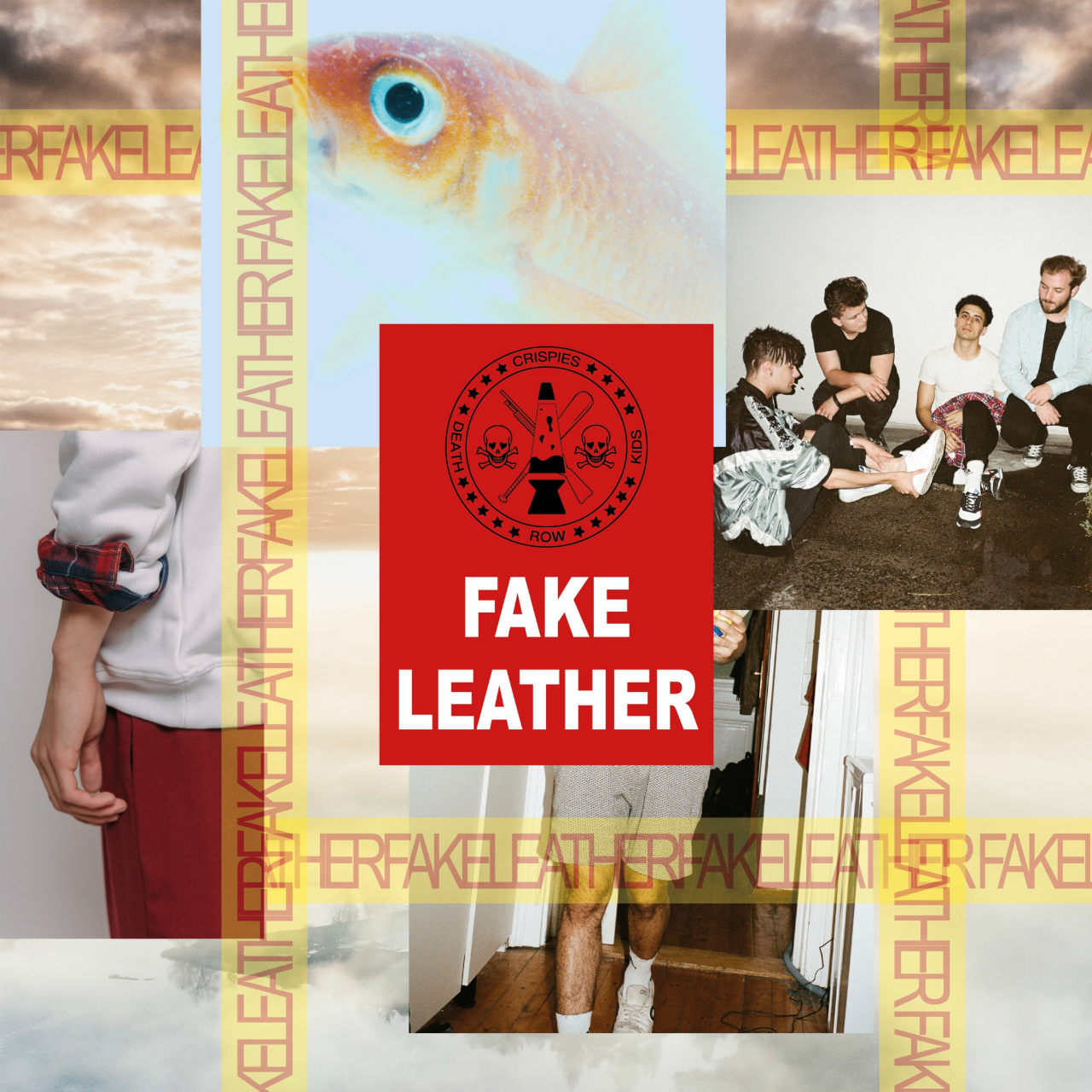 "Plattencover ""Fake Leather"" von The Crispies"