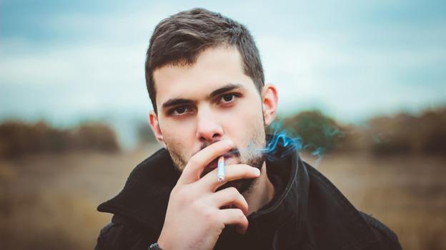 Rauchender Mann