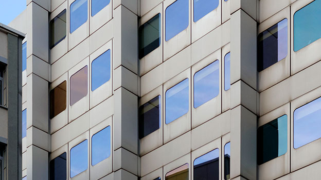 Futuristische Häuserfront