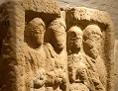 Grabstele einer Römer-Familie im Römerlager Arrianis unter dem Stift Klosterneuburg