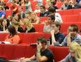 Studenten an der Wiener Wirtschaftsuni