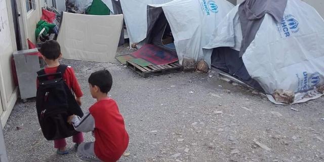 Bilder aus Flüchtlings Hot Spots in Griechenland