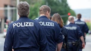 Bundespolizei bei einer Demonstration