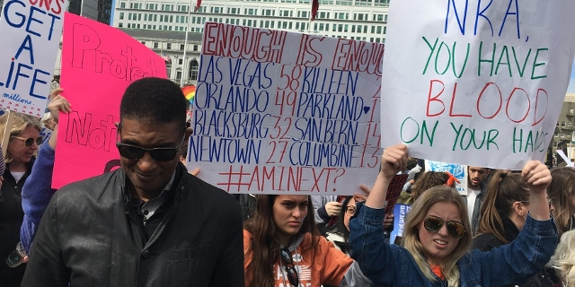 """Protestmarsch """"March for Our Lives"""" in San Francisco"""