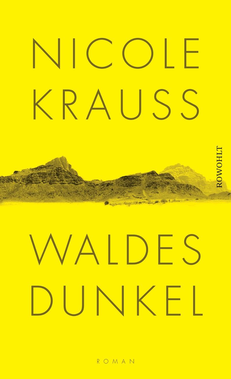 Gelbes Buchcover mit Landschaft