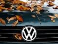 Herbstlaub auf einem VW-Polo