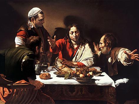 Michelangelo Merisi da Caravaggio: Abendmahl in Emmaus (um 1601)