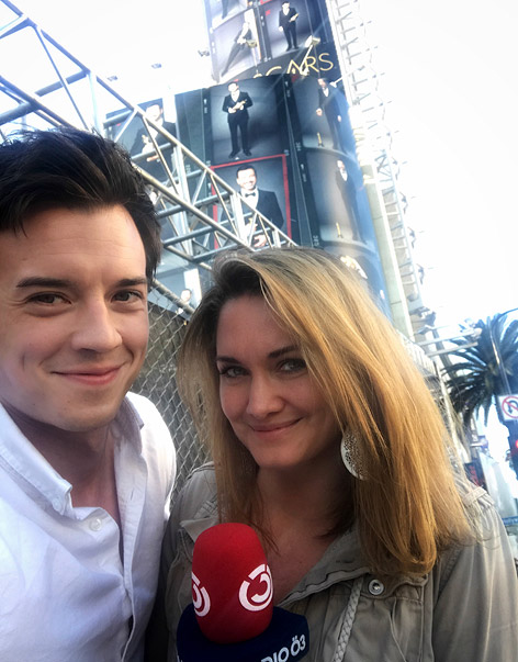 Gabi Hiller und Philipp Hansa in Hollywood