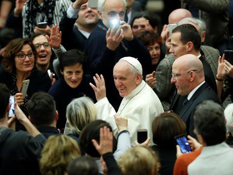 Papst Audienz für Krankenpfleger