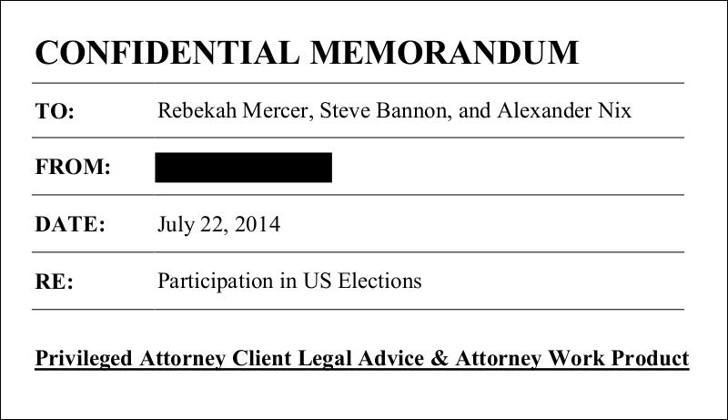 """""""Confidential Memorandum"""""""