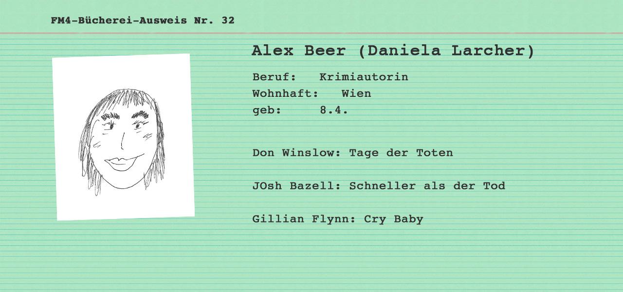 FM4 Büchereiausweis Alex Beer