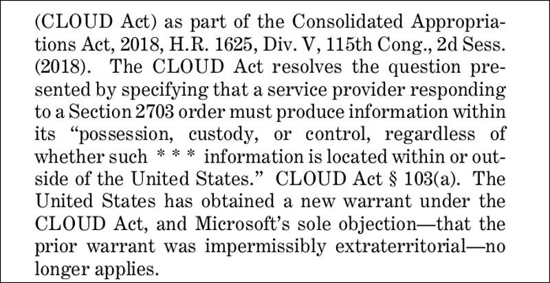 Cloud Act Screenshot