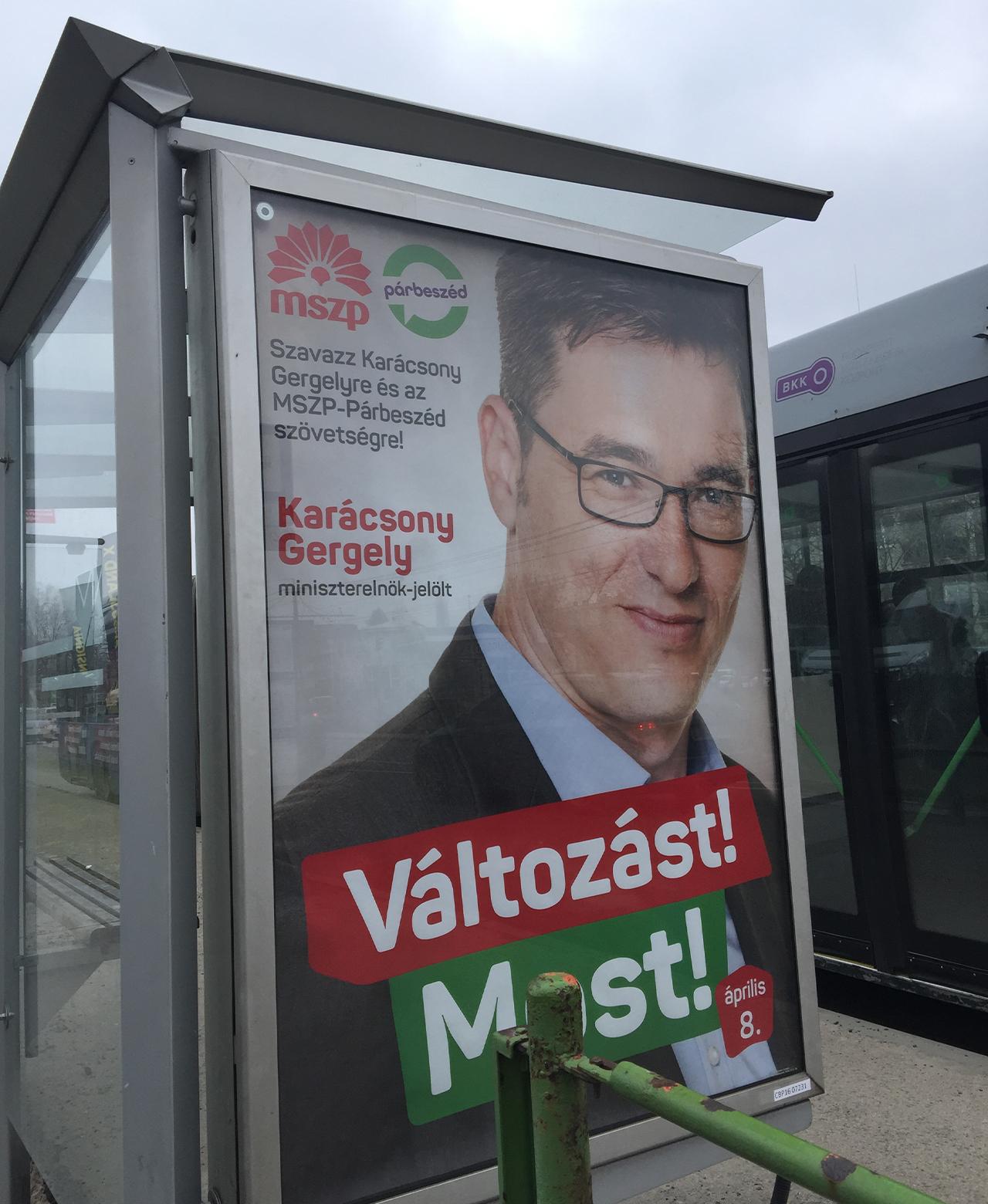 Ein ungarisches Wahlplakat