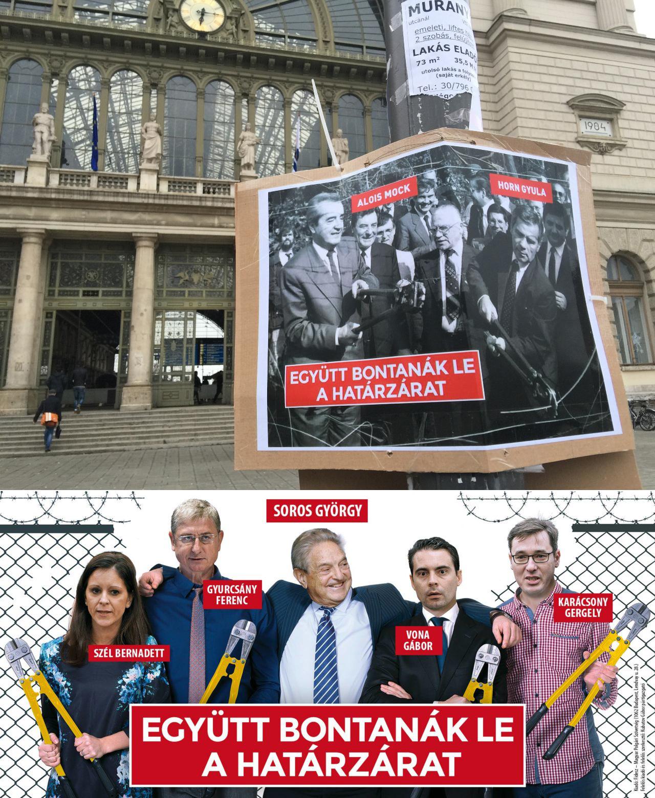 Wahlplakate aus Ungarn