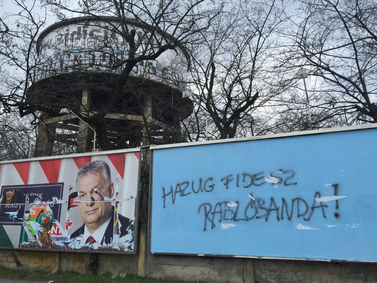 Wahlplakat in Ungarn