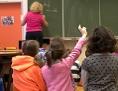 Mädchen in der Volksschule