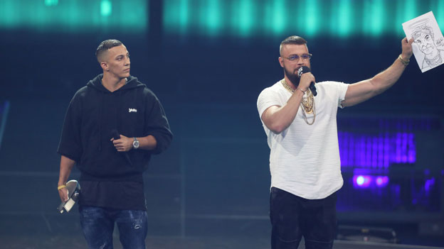 Rapper Kollegah und Farid Bang beim Echo