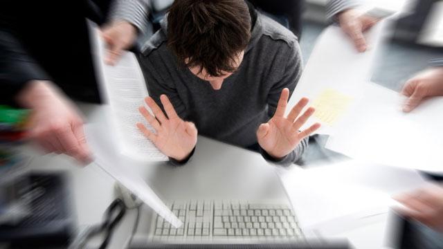 Symbolbild: Stress am Arbeitsplatz