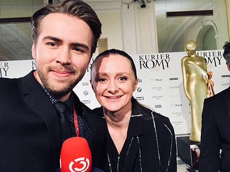 Ö3-Reporter Max Bauer zusammen mit Schauspielerin Gerti Drassl