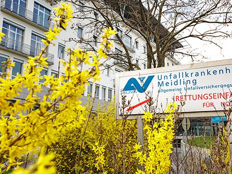 Eingang zum UKH Meidling in Wien