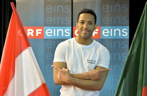 Cesar Sampson im ORF-Zentrum