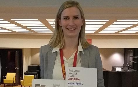 Nicole Heinzl, Gewinnerin des Falling Walls Labs 2018