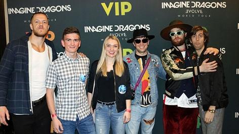 Ö3-Hörer mit den Imagine Dragons