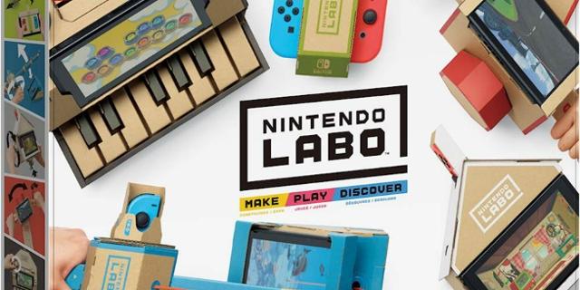 Nintendo Labo wurde veröffentlicht. Interaktives Spielkonsolenprinzip.