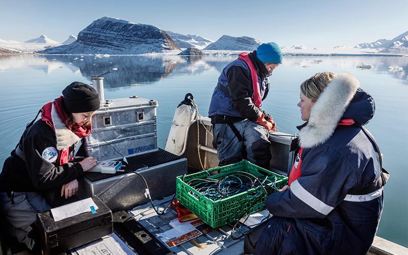 Die Forscherinnen im Kongsfjord, Spitzbergen