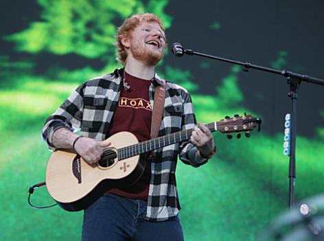 Ed Sheeran beim Europatourstart in Cork/ Irland am 4,5,2018