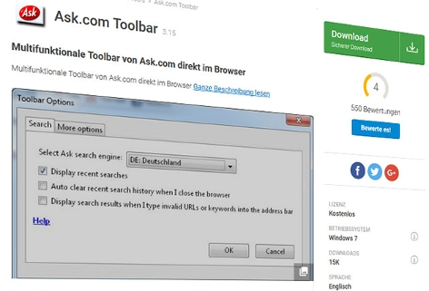 Screenshot ask-com-toolbar.de