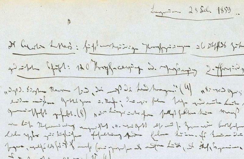 Auszug aus einem Exzerptheft von Karl Marx, in dem er sich 1859 mit Martin Luther beschäftigt