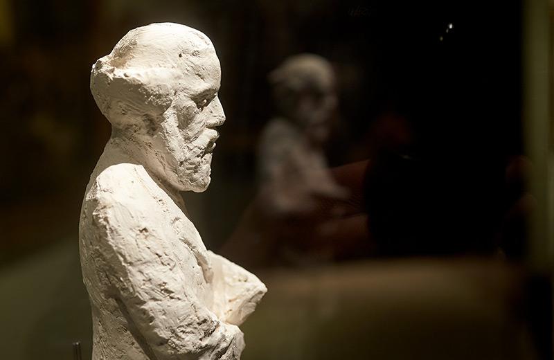 Büste von Marx in der Ausstellung