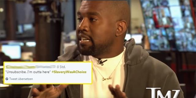 Kanye West und #slaverywasachoice tweet