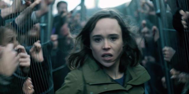 Ellen Page läuft zwischen Zombies