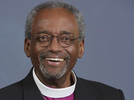Bischof aus Chicago beteiligen. Michael Bruce Curry, Oberhaupt der Episkopalkirche der USA,