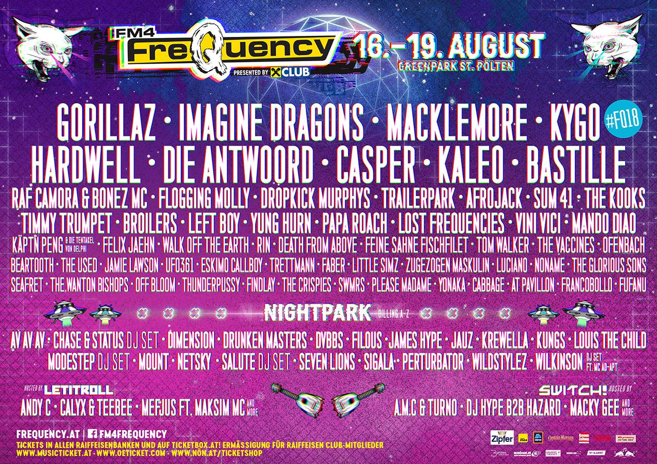 LineUp komplett beim FM4 Frequency Festival 2018