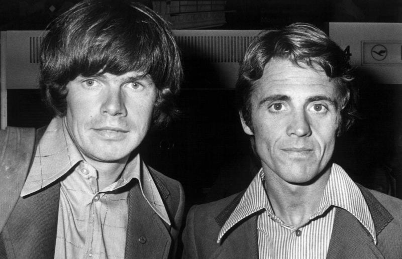 Extrembergsteiger Reinhold Messner und Peter Habeler auf einem Archivbild aus 1975