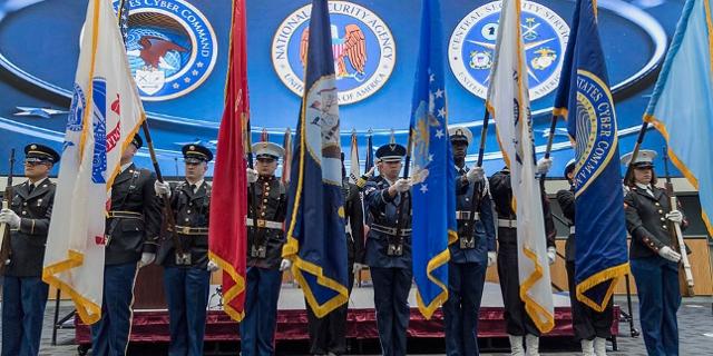 NSA Flaggenparade zur Amtsübergabe
