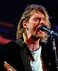 Kurt Cobain auf der Bühne