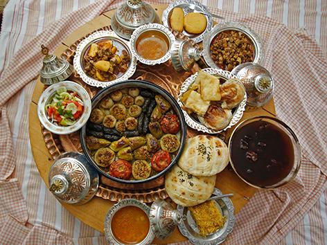 Ein Ramadan-Fastenbrechen aus Bosnien Herzegowina