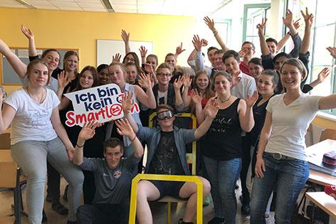 Schülerinnen und Schüler der Landesberufsschule Obertrum