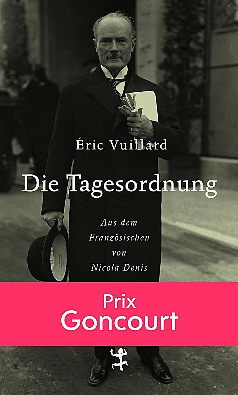 """Buchcover von Éric Vuillards """"Die Tagesordnung"""""""